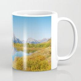 Near the Snake river looking toward Mount Moran in the Grand Tetons. Coffee Mug