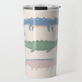 Dreaming crocodiles modern kids illustration  Travel Mug