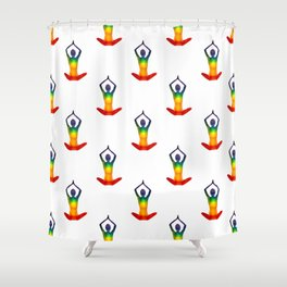 Open your chakras Shower Curtain