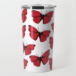Red butterfly Spring Art Travel Mug