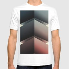 Color Cube White Mens Fitted Tee MEDIUM
