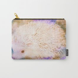 Sweet Champagne Hedgehog Watercolor Effect Carry-All Pouch