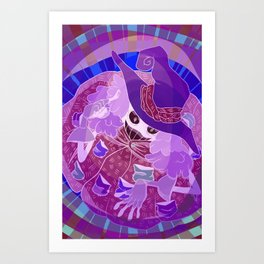 Negative Witch Art Print