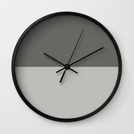 Benjamin Moore 2019 Color of Year Metropolitan & Kendall Charcoal Gray Bold Horizontal Stripes Wall Clock