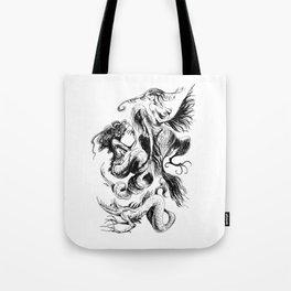 Mermaids and Harpies Tote Bag