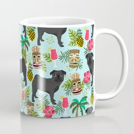 Pug Life tiki beach day vacation sunshine surfing dog gift pet portrait fun in the sun sport Coffee Mug
