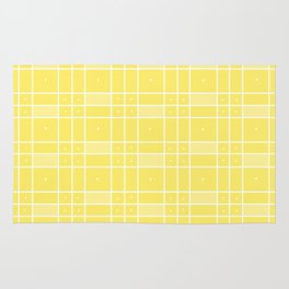 Yellow Squares and Dots Rug