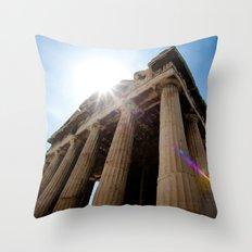 Temple of Hephaestus Throw Pillow