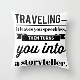 Travel Trip Vacation Adventure Saying Throw Pillow