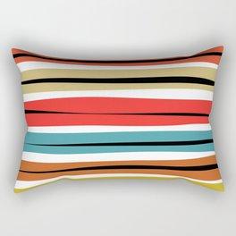 Multicolored Stripes Rectangular Pillow