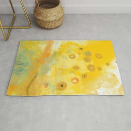 Abstract autumn with gold and warm light Rug