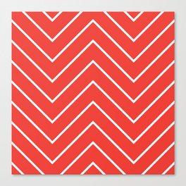 Yacht style design. Red chevron. Canvas Print