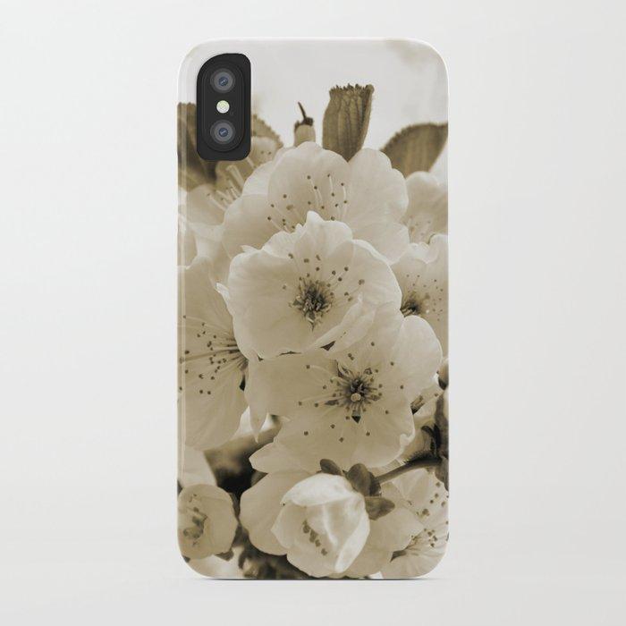 Cherry Blossoms Monochrome iPhone Case