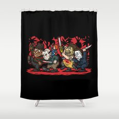 Where the Slashers Are (Full Color) Shower Curtain