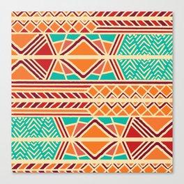 Tribal ethnic geometric pattern 027 Canvas Print
