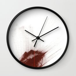 """""""Your Lips Are Red; Your Skin is Fair"""" Wall Clock"""