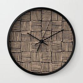 Crosshatch Black  Wall Clock