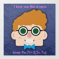 nerd Canvas Prints featuring Nerd  by Chris Hockey