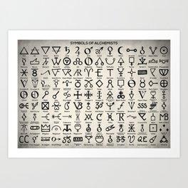 Symbols Of Alchemists Art Print