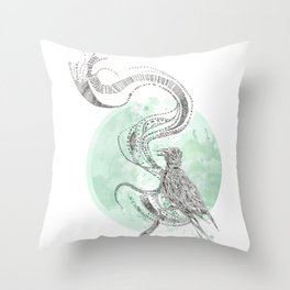 Bird Cry Throw Pillow