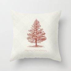 Simple Christmas Tree Throw Pillow
