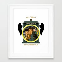 superwholock Framed Art Prints featuring Superwholock by littleartbot