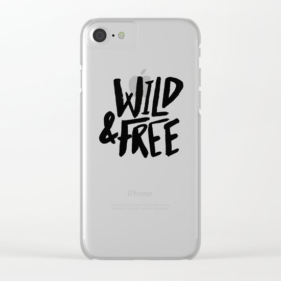 Wild and Free II Clear iPhone Case