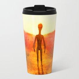 Alien in the Meadow Travel Mug