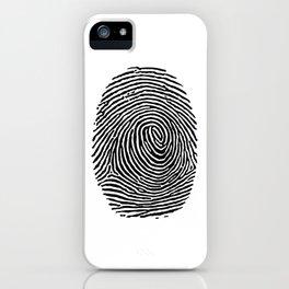 Fingerprint CSI crime scene iPhone Case