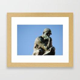 thinker Framed Art Print