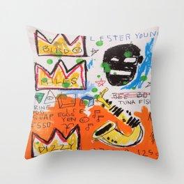 Basquiat king Throw Pillow