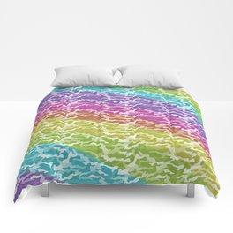 Rainbow Camo Comforters