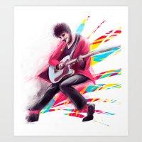 darren criss Art Prints featuring Listen Up Darren Criss by Ines92