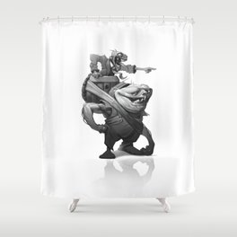Dumb and Dumber Shower Curtain