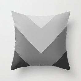 Gray Chevron Stripes Throw Pillow