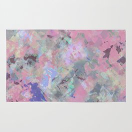 Pink Blush Abstract Rug
