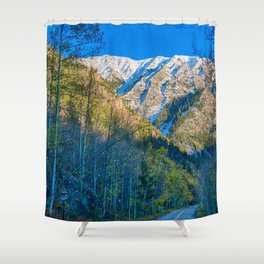 Mountain Path // Rocky Mountains Colorado Landscape Photography Amazing Shots at Sunrise Shower Curtain