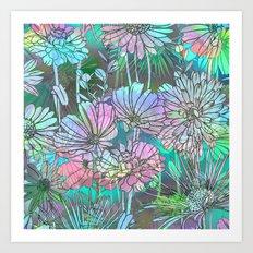 Spring Meadow Pattern Art Print