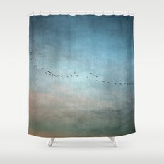 Toward The Sunset Shower Curtain