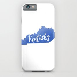 Kentucky Map State Watercolor Print iPhone Case