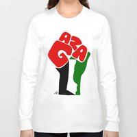 palestine Long Sleeve T-shirts featuring GAZA by Osama hajjaj