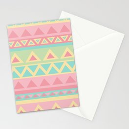 Pastel Patterns Carpet  Stationery Cards