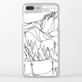 Hidden Alpine Lake Clear iPhone Case