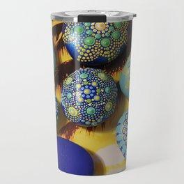 Acrylic painted rocks Travel Mug