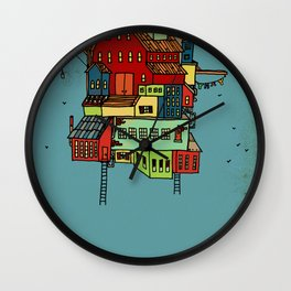 Floating Home. Wall Clock