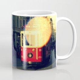 colorful tram in Istanbul Coffee Mug