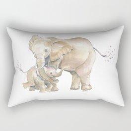 Mother's Love - Elephant Family Rectangular Pillow