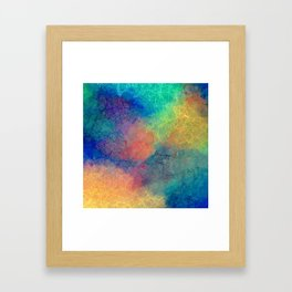 Reflecting Multi Colorful Abstract Prisms Design Framed Art Print
