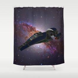 A Spaceship called Vagabond Shower Curtain