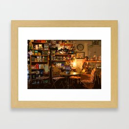 Cute Cozy Country Irish Shop Christmas Photography Home Framed Art Print